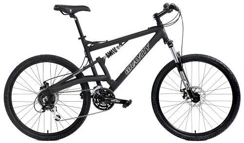 2016 Gravity FSX 1.0 Dual Full Suspension Mountain Bike Shimano Acera Suntour