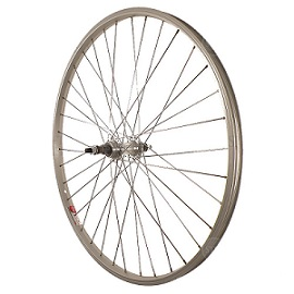 Sta Tru STW 26 X 1.5 BO Silver Rear Mountain Bike Wheel
